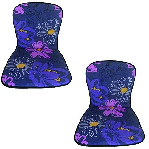Beo 2-er B023 Palma MN - Lehner b023 cojín bajo palma mn monobloque para silla baja pila, alrededor de 40 x 72 cm, 2 cm de espesor, paquete 2-er, violeta