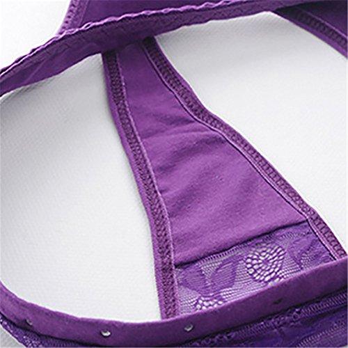 meizu88 Damen Taillenslip Violett