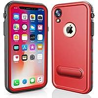 Yadasaro] iPhone XR Funda,Certificado IP68 Funda Impermeable Estuche Subacuático Delgado Anti-Nieve Anti-Choque Completo Protección con Respuesta Táctil para iPhone XR Rojo