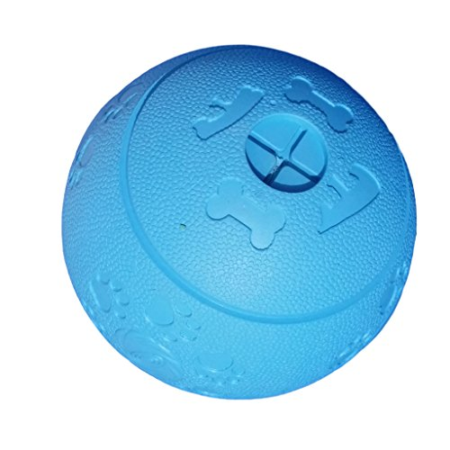 WEPO Hundespielzeug | Robuster Snackball aus Naturkautschuk (Naturgummi) mit Öffnungen und Hohlräumen für Leckerli | Für große und kleine Hunde | Snackball | Kauball | Labyrinthball (Blau)