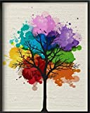"""Love st - Watercolor Tree - Artistic poster 12x18"""" for home & office"""