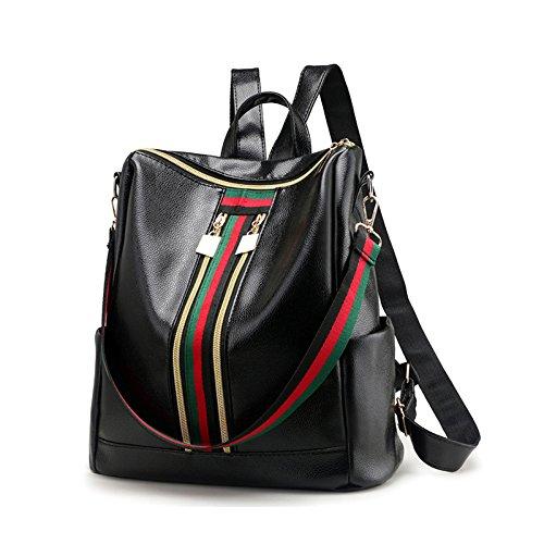 Pawaca moda donna mini cerniere doppie Oxford zaino borsa zaino scuola borsa a tracolla da donna, impermeabile in pelle vintage borsa da viaggio da donna, borse e zaino viaggio Bookbag.