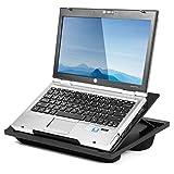 Halter - Soporte de escritorio para ordenador portátil con 8 ángulos ajustables y cojines de apoyo dobles de microperlas