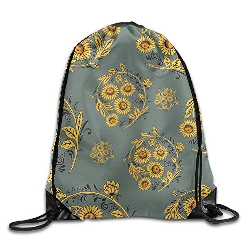 Naiyin Sunflower Peace Symbol Unisex Sack Cinch Backpack Sport Drawstring Bags. 70