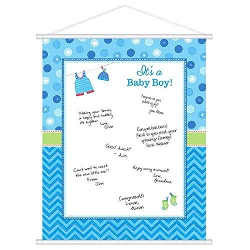 amscan 27149148x 60cm mit Love Boy Sign-in-Sheet Board