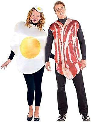 Adultos Bacon y huevos parejas disfraz trajes desayuno Buddies–Fiestas de Disfraces
