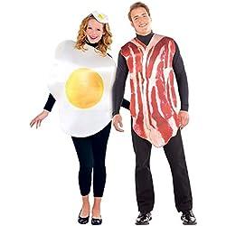 Disfraz de Huevo y disfraz de Bacon 2x1 para adultos en talla universal