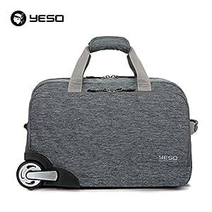 edf07eb37098 YESO Trolley Travel Bag Hand Luggage 20inch 32L Rolling Duffle Bags ...