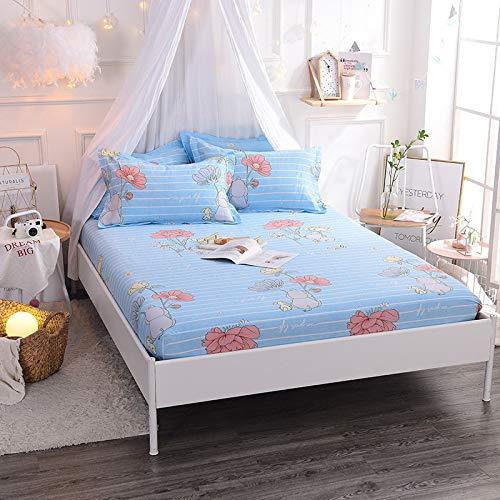 Hllhpc Für Neue Vier Jahreszeiten rutschfeste Bettdecke Kit Serie Einteilige Simmons Staubdicht Bettdecke 2 150 * 200 cm