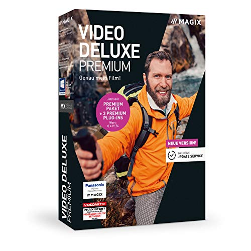 MAGIX Video deluxe 2019 Premium - Für anspruchsvolle Videoproduktionen.|Standard|1 Device|1 Year|PC|Disc|Disc Klasse Video