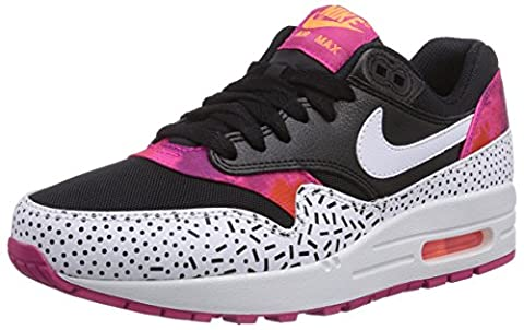 Nike Air Max 1 Print, Chaussures de Running Femme, Multicolore (black/white-fireberry-pink Pow 002), 37.5