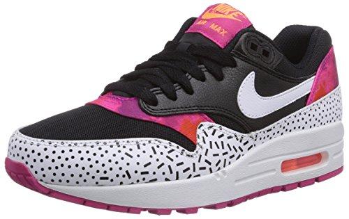 Nike Air Max 1 IMPRIMER 528 898 002 femmes en noir Multicolore (black/white-fireberry-pink Pow 002)