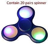 LED Light Fidget Hand Spinner,Bescita LED Light Fidget Hand Spinner Torqbar Finger Toy EDC Focus Gyro Fast Shipping (Blue)