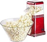 Rosenstein & Söhne Heißluft Popcorn Maker: XL-Heißluft-Popcorn-Maschine für bis zu 100 g Mais, 1.200 Watt (Popcorn-Zubereiter)