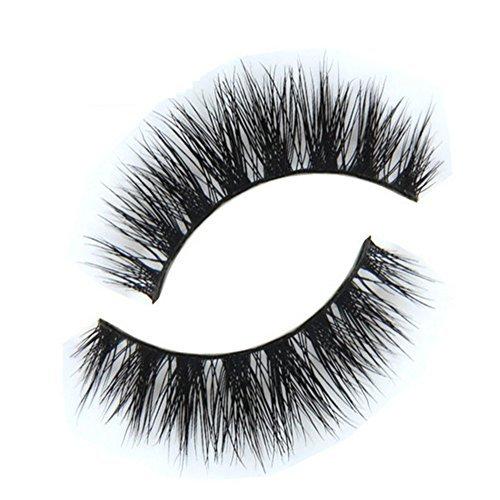 Born Pretty 1 Pair Faux Cils Noirs Bouclés Croisés Longs Maquillage #014