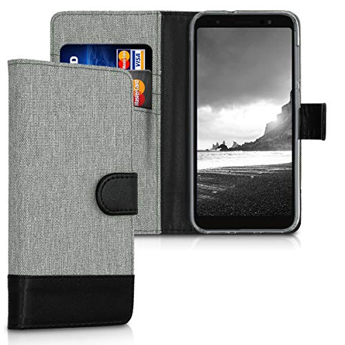 kwmobile Asus ZenFone Live (L1) ZA550KL Hülle - Kunstleder Wallet Case für Asus ZenFone Live (L1) ZA550KL mit Kartenfächern & Stand