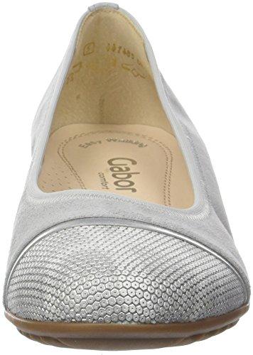 Gabor Comfort Sport, Ballerine Donna Grigio (Light Grey/argento)