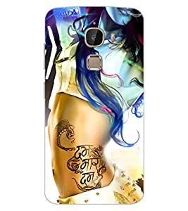 ColourCraft Stylish Girl Design Back Case Cover for LeEco Le 2 Pro
