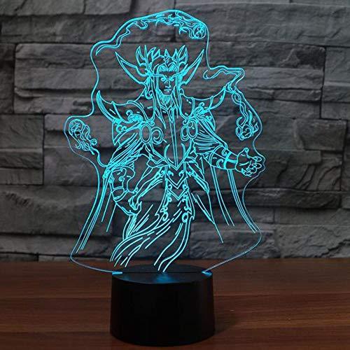 Modelo De Personajes 3D Lámpara De Mesa 7 Cambio De Color Táctil Juego Lámpara De Mesa Led Anime Dormir Noche Lámpara Dormitorio Cama Decoración Regalo