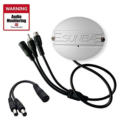 Sunba Outdoor Aluminium CCTV Mikrofone für IP Kameras mit RCA Interface