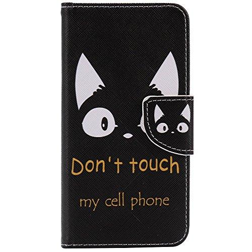 Qissy®iPhone 7 Hülle, Wallet Leder PU TascheCase Lederhülle Muster Baum Schmetterling Katze Phone Protect Flip Hülle Case Bookstyle Cover Schale Standfunktion Etui Schutzhülle (12) (Brieftasche Leder Executive)