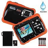 Kamera für Kinder,12MP HD wasserdichte Digitalkamera,Mini Action Camcorder Kinderkamera,2.0 Zoll LCD Bildschirm Anzeige/4X Digitaler Zoom/5MP CMOS-Sensor mit 8GB Speicherkarte & Batterien