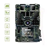 Dohiker Cámara de Caza Gran Angular de 120°y 16MP y 1080P Trail cámara 48 Luces LED con PIR Infrarrojo Sensor de Movimiento Visión Nocturna Seguridad de Niños Hogar Animal