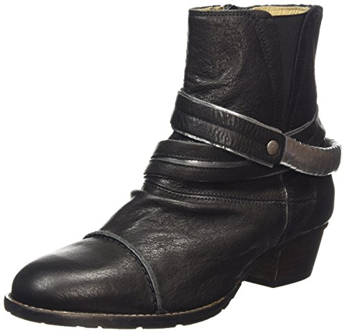 dkode RUTH, Stivali classici imbottiti a mezza gamba donna, Nero (Schwarz (Black/Silver 001)), 36
