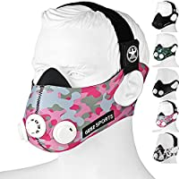 Preisvergleich für Geez Trainingsmaske Höhentraining Fitness Atemmaske Trainings Maske Training Mask