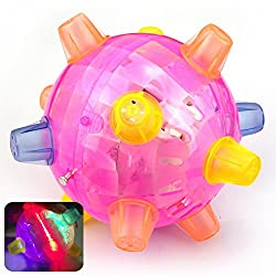 Hihamer Kids Ball,baby Kids Classic Toy Jumping Flashing Light Up Bopper Vibrating Sound Ball