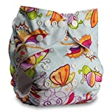 Littles & Bloomz, Reusable Pocket Cloth Nappy, Fastener: Popper, Set of 1, Pattern 92, Without Insert