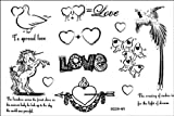Uomini e donne Moda stagna tatuaggio finto unicorno i piccioni tatuaggi finti