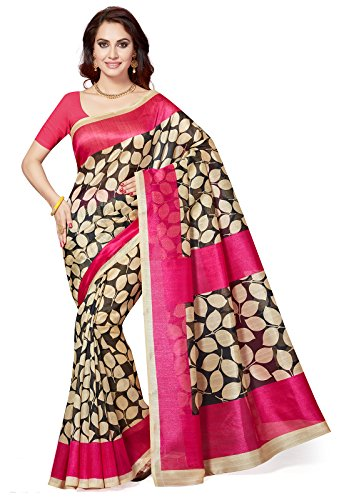 Ishin Bhagalpuri Art Silk Black Party Wear Wedding Wear casual Daily Wear Festive Wear Bollywood New Collection Printed Latest Design Trendy Women\'s Saree