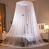 Zanzariera a Cupola Universale Facile Installazione Adatto per Letto Matrimoniale Singolo Efficacemente Prevenire le Zanzare (Bianco)