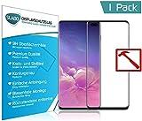 Slabo Premium Pellicola Protettiva in Vetro Temperato per Samsung Galaxy S10+   S10 Plus Full Cover Tempered Glass Crystal Clear Graffi Fino a 9H - Cornice Nero