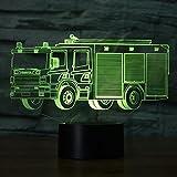 3D Feuerwehr Auto Optische Illusions-Lampen, ...Vergleich