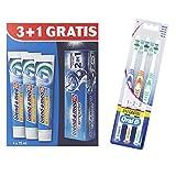 Blend-a-med Complete extra frisch + 2in1 Zahncreme 300 ml+Oral-B 1-2-3 Classic Care Zahnbürste 35 mittel Pack (1x3) Gartis, Pack (2 x 300 ml )