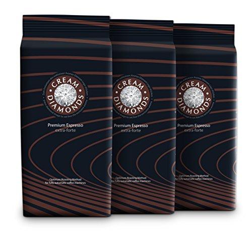 3 kg Cream Diamonds extra-forte Café-Espresso Bohnen für Kaffeevollautomaten