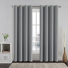 hversailtex thermo verdunklungsvorhnge blickdicht gardinen mit sen fr schlafzimmer grau vorhnge wrmeschutz - Gardinen Im Schlafzimmer