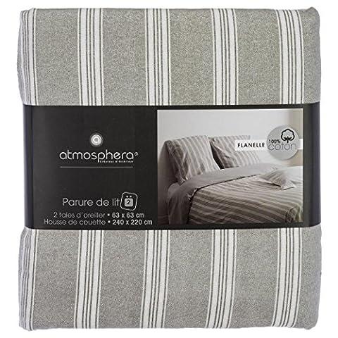 Parure de lit Flanelle pour 2 personnes - Qualité supérieure