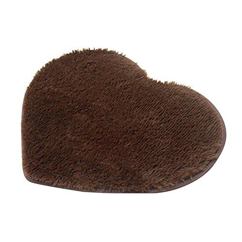 Alfombrilla de baño impermeable con forma de corazón absorbente y antideslizante...