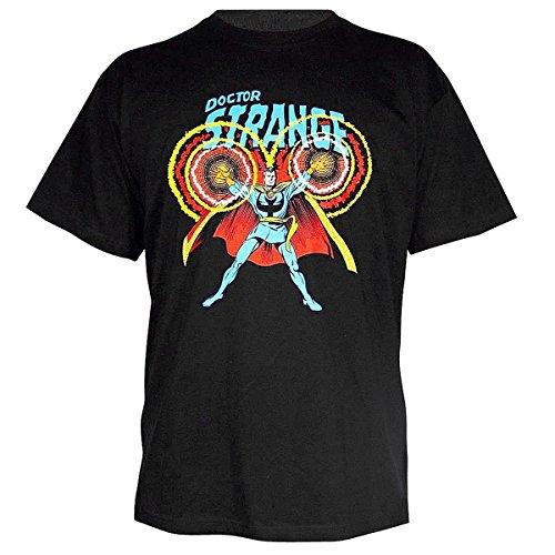 Marvel Comic Doctor Strange T-Shirt, S, M, L, XL, schwarz Bedruckt aus Baumwolle (M)