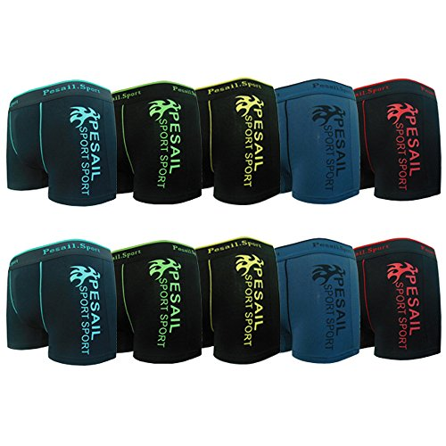 Pesail Jungen Boxershorts Kids Sport Unterhosen Retroshorts Pants in coolem Design Gr.160-178, 2-4-5-6-8-9-12er Pack(172-178,12er)