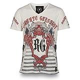 Roberto Geissini Herren T-Shirt EMBLEM white Gr. M