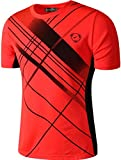 Sportides Hombre Sports Breathable Quick Dry Short Sleeve Casual Tee T