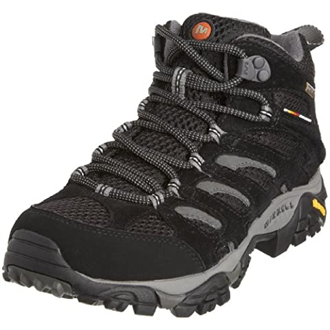 Merrell Moab Mid Gore-Tex , Women's Lace-Up Trekking and Hiking Boots - Black, 5.5 UK