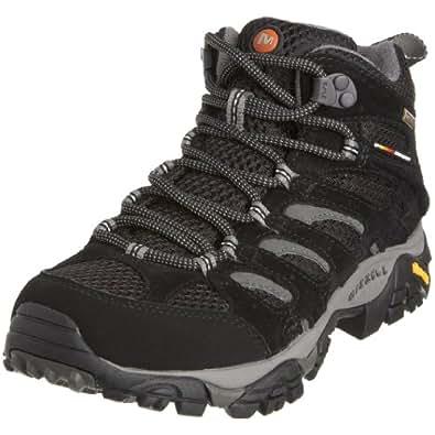 Merrell - Moab Mid GTX - Chaussure de randonnée - Tige basse - Femme - Noir (Black) - 36 EU