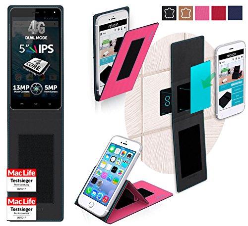 reboon Hülle für Allview E4 Lite Tasche Cover Case Bumper | Pink | Testsieger