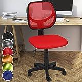 Miadomodo Bürodrehstuhl mit Netzbezug in 6 unterschiedliche Farben zur Auswahl: Schwarz/Grau/Blau/Grün/Rot/Orange (Rot)