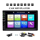 EinCar MP5 Double 2 Din Autoradio Bluetooth Auto-Stereo-Audio-Multimedia Videosystem FM Radio Gerät mit 7-Zoll-kapazitivem Touch Screen Auto GPS Nein Nein DVD + Wireless Headunit Backup-Kamera